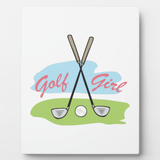 GOLF GIRL PLAQUES