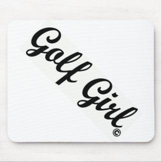 Golf Girl Script Mousepads