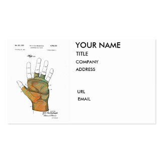 GOLF GLOVE PATENT 1953 - Business cards