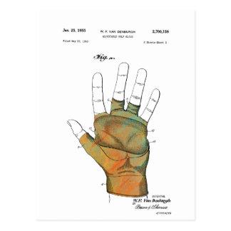 GOLF GLOVE PATENT - Postcard