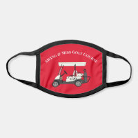 Golf Golfer Cart All Over Print Face Mask