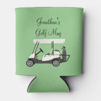 Golf Golfer Cart Personalized Coffee Beer Can Cooler