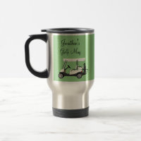 Golf Golfer Cart Personalized Coffee Travel Mug
