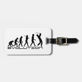 Golf Golfer Golfing Sport Evolution Art Luggage Tags