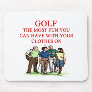 GOLF golfer joke Mouse Pad