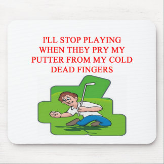 GOLF golfer joke Mousepads