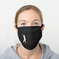 Golf Golfer Simple Minimalistic Black Cotton Face Mask