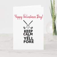 Golf Golfing Golfers Happy Valentines Day Golfers Holiday Card