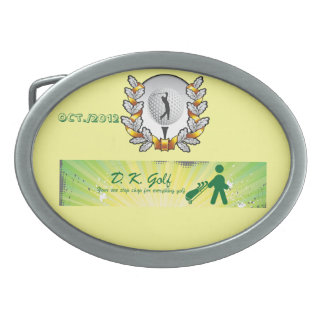Golf golfing oval belt buckle