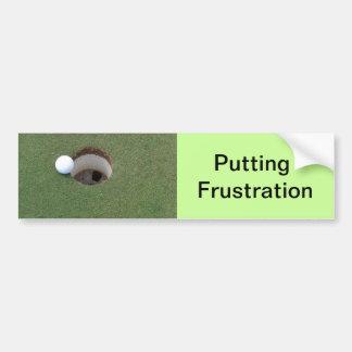 Golf Golfing que pone la etiqueta engomada de para Etiqueta De Parachoque