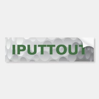 Golf Golfing que pone la etiqueta engomada de Pegatina Para Auto