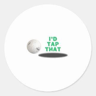 Golf - golpearía ligeramente eso pegatina redonda