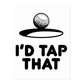 Golf - golpearía ligeramente eso tarjetas postales