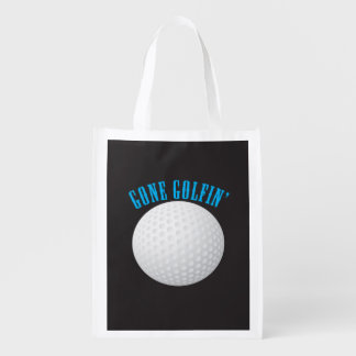 Golf Gone Golfing Reusable Grocery Bag