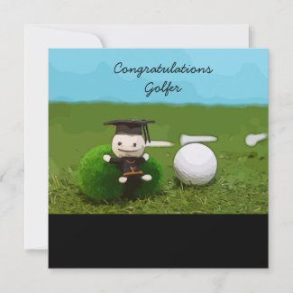 Golf Graduation Card