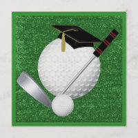 Golf  Graduation - SRF Invitation