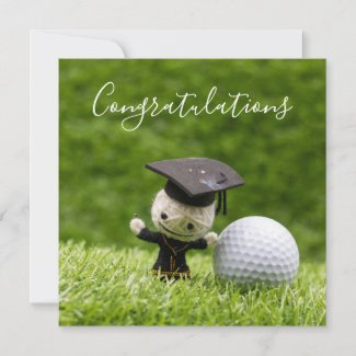 Golf Graduation with Congratulations with ball Card