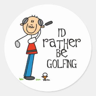 Golf Grandpa Gift Classic Round Sticker