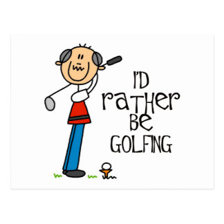 Golf Grandpa Gift Postcard