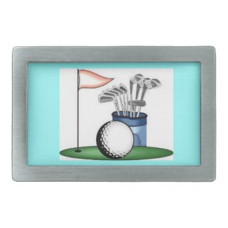 GOLF GREEN BELTBUCKLE RECTANGULAR BELT BUCKLE
