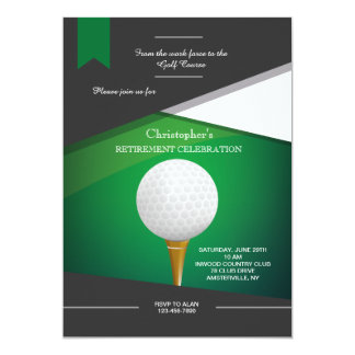 Golf Green Invitation