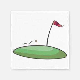 Golf Green Paper Napkins