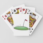 """Golf Green Playing Cards<br><div class=""""desc"""">In golf you want to get on the green and then into the hole. This design is of a lovely looking green with the hole and flag sticking out of the hole. That is the target. This golf green design looks great on these playing cards. Perfect for yourself or as...</div>"""