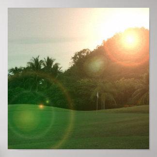 Golf Green Poster Print