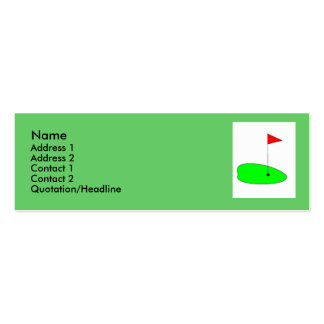 Golf green profile card business card