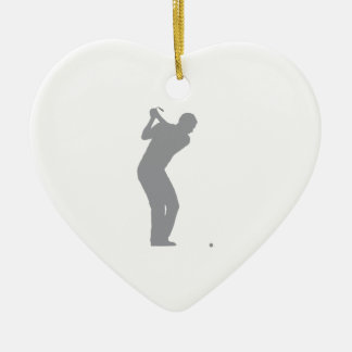 GOLF (grey) Ceramic Ornament