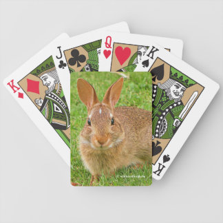 Golf Groundskeeper Bunny Bicycle Playing Cards