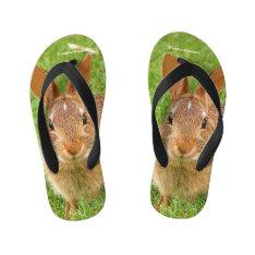 Golf Groundskeeper Bunny Kid's Flip Flops at Zazzle