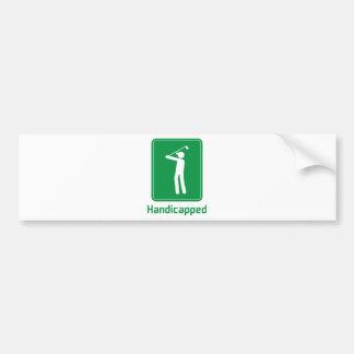 Golf - Handicapped Bumper Sticker
