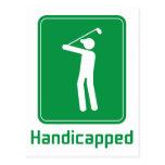 Golf - Handicapped Postcard