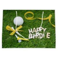 Golf Happy Birdie with golf ball with Large Gift Bag
