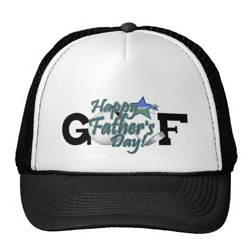 Golf Happy Fathers Day Trucker Hat