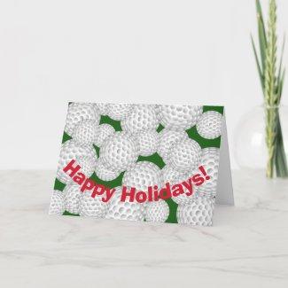 Golf Happy Holidays Holiday Card