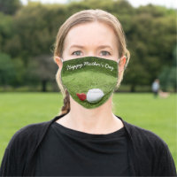 Golf Happy Mother's Day with love Cloth Face Mask