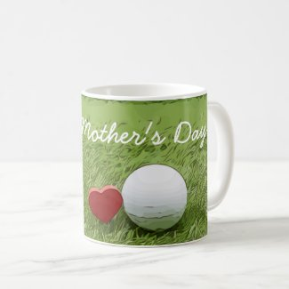 Golf Happy Mother's Day with love on green golfer Coffee Mug