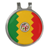 Golf Hat clip and Ball Marker Flag of Los Angeles