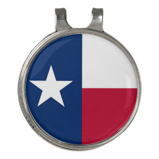 Golf Hat clip and Ball Marker Texas Flag
