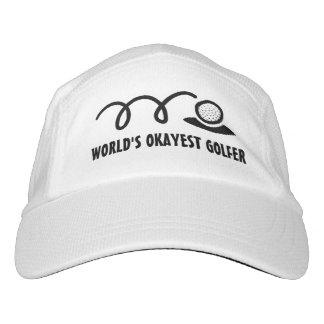 Golf hat for men or women | World's okayest golfer Headsweats Hat