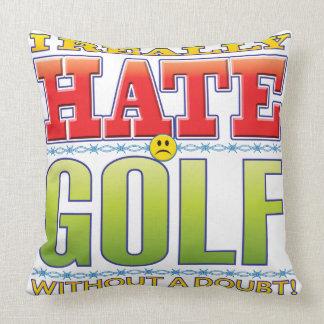 Golf Hate Face Pillows