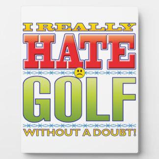 Golf Hate Face Photo Plaque