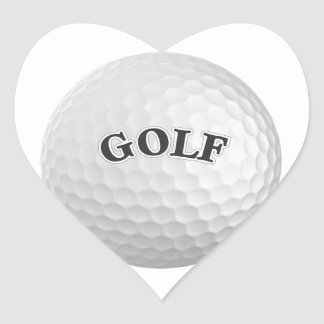 Golf Heart Sticker