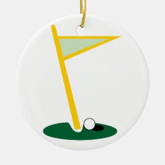 Golf Hole Christmas Tree Ornament