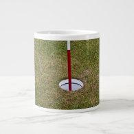 Golf hole extra large mug