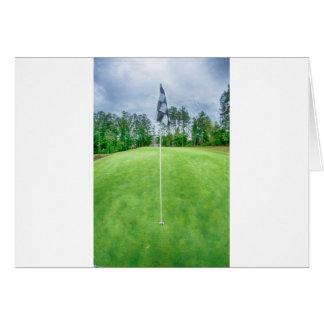 golf hole flag pole card