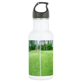 golf hole flag pole water bottle