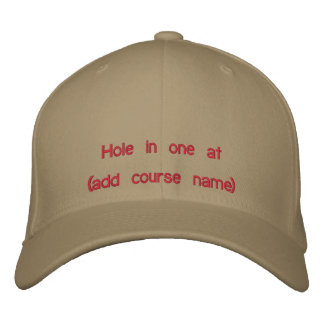 Golf Hole in One Cap Embroidered Baseball Cap